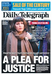 Daily Telegraph (Australia) Newspaper Front Page for 18 June 2013