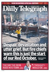 Daily Telegraph (Australia) Newspaper Front Page for 19 October 2013