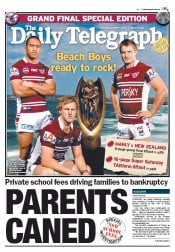 Daily Telegraph (Australia) Newspaper Front Page for 1 October 2011
