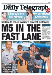 Daily Telegraph (Australia) Newspaper Front Page for 21 December 2011