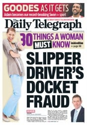 Daily Telegraph (Australia) Newspaper Front Page for 28 April 2012