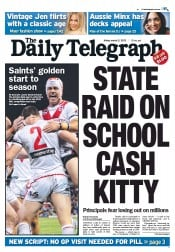 Daily Telegraph (Australia) Newspaper Front Page for 2 March 2012
