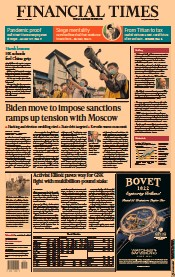 Financial Times () Newspaper Front Page for 16 April 2021