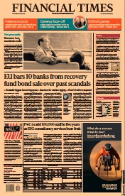 Financial Times () Newspaper Front Page for 16 June 2021