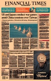 Financial Times () Newspaper Front Page for 1 July 2021