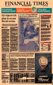 Financial Times () Newspaper Front Page for 22 July 2021