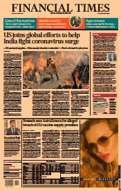 Financial Times () Newspaper Front Page for 27 April 2021