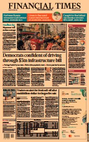 Financial Times (UK) Newspaper Front Page for 29 March 2021
