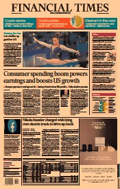 Financial Times () Newspaper Front Page for 30 July 2021