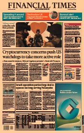 Financial Times () Newspaper Front Page for 31 May 2021