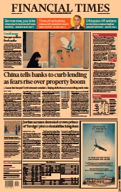 Financial Times (UK) Newspaper Front Page for 5 April 2021