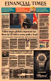 Financial Times (UK) Newspaper Front Page for 6 April 2021