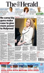 The Herald (UK) Newspaper Front Page for 11 March 2014