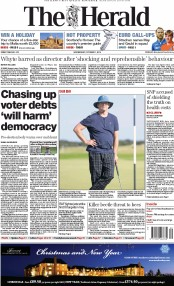 The Herald (UK) Newspaper Front Page for 1 October 2014