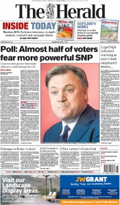 The Herald (UK) Newspaper Front Page for 1 April 2015