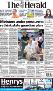 The Herald (UK) Newspaper Front Page for 1 July 2015