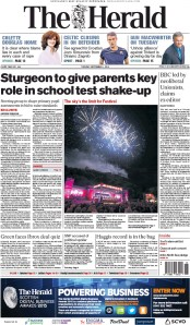 The Herald (UK) Newspaper Front Page for 1 September 2015