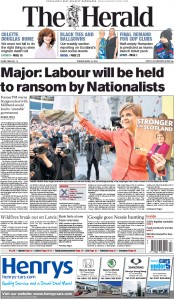 The Herald (UK) Newspaper Front Page for 21 April 2015