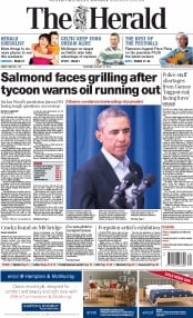 The Herald (UK) Newspaper Front Page for 21 August 2014