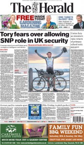 The Herald (UK) Newspaper Front Page for 22 May 2015