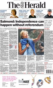 The Herald (UK) Newspaper Front Page for 22 September 2014