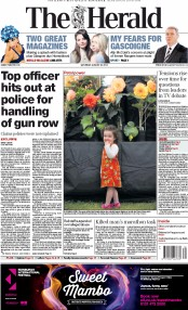 The Herald (UK) Newspaper Front Page for 23 August 2014