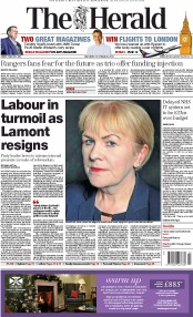 The Herald (UK) Newspaper Front Page for 25 October 2014