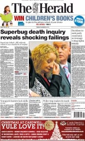 The Herald (UK) Newspaper Front Page for 25 November 2014