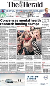 The Herald (UK) Newspaper Front Page for 26 January 2015
