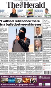 The Herald (UK) Newspaper Front Page for 27 February 2015
