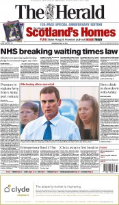 The Herald (UK) Newspaper Front Page for 27 May 2015