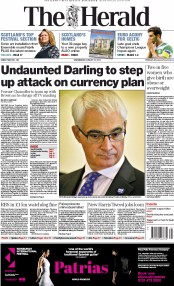 The Herald (UK) Newspaper Front Page for 27 August 2014