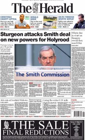 The Herald (UK) Newspaper Front Page for 28 November 2014