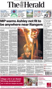 The Herald (UK) Newspaper Front Page for 28 January 2015