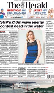 The Herald (UK) Newspaper Front Page for 28 February 2015