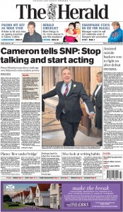 The Herald (UK) Newspaper Front Page for 28 May 2015