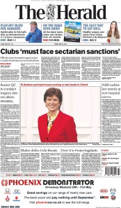 The Herald (UK) Newspaper Front Page for 29 May 2015