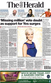 The Herald (UK) Newspaper Front Page for 2 September 2014