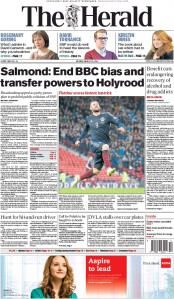 The Herald (UK) Newspaper Front Page for 30 March 2015