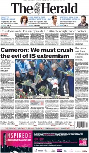 The Herald (UK) Newspaper Front Page for 30 June 2015