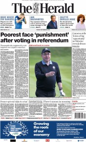The Herald (UK) Newspaper Front Page for 30 September 2014