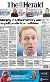 The Herald (UK) Newspaper Front Page for 31 October 2014