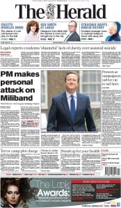 The Herald (UK) Newspaper Front Page for 31 March 2015