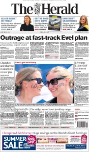 The Herald (UK) Newspaper Front Page for 3 July 2015