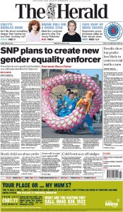 The Herald (UK) Newspaper Front Page for 4 August 2015