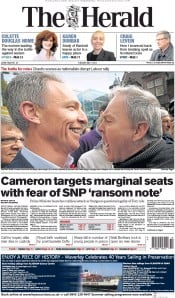 The Herald (UK) Newspaper Front Page for 5 May 2015