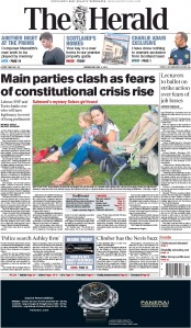 The Herald (UK) Newspaper Front Page for 6 May 2015
