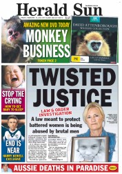Herald Sun (Australia) Newspaper Front Page for 10 February 2012