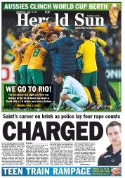 Herald Sun (Australia) Newspaper Front Page for 18 June 2013