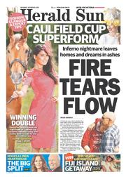 Herald Sun (Australia) Newspaper Front Page for 19 October 2013